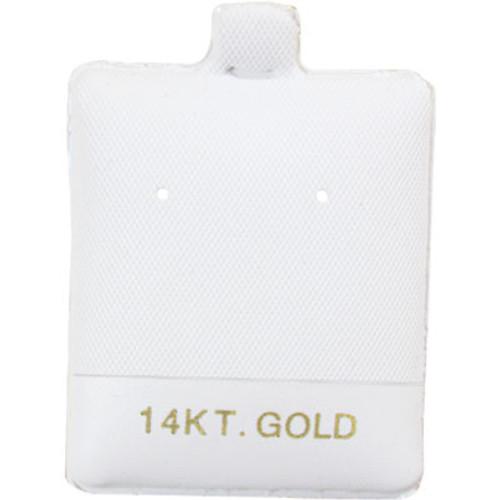 "Earring Puff Card (14K Gold BX595-1) 1 1/2""x 1 3/4"""