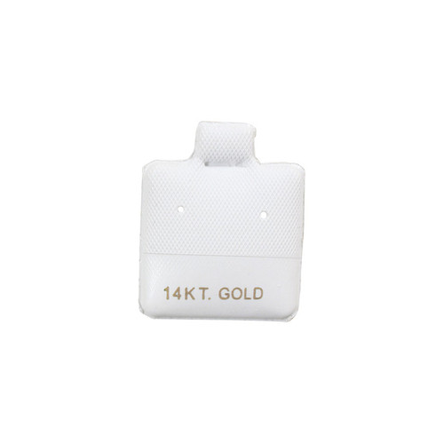 "Small Earring Puff Card (14K BX565-1) 1""x 1"""