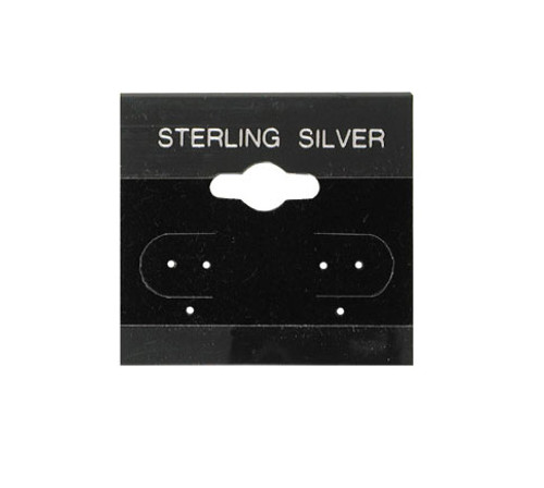 "Hanging Earring Card (Sterling Silver BX571-S) 1 1/2""x 1 1/2"""