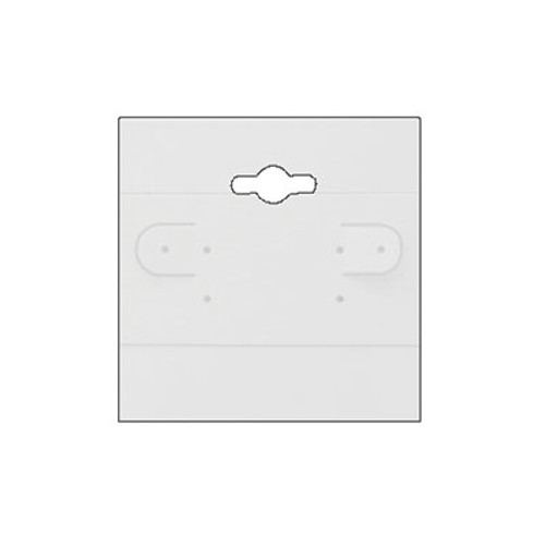 "Hanging Earring Card (Plain BX579) 2""x 2"""