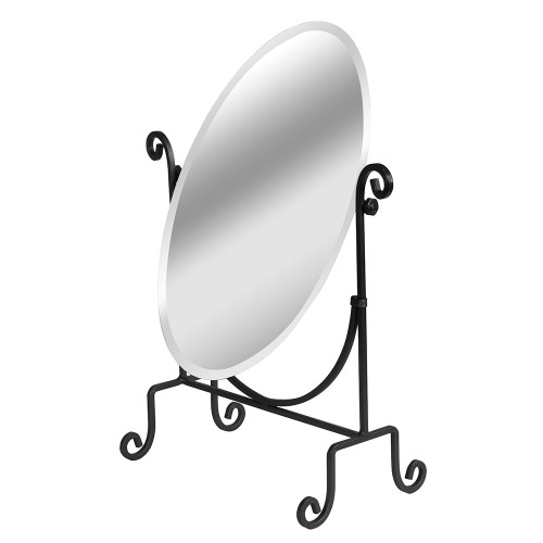 "Adjustable Glass Mirror / Metal Base, 12 5/8"" x 6"" x 16 1/2""H"