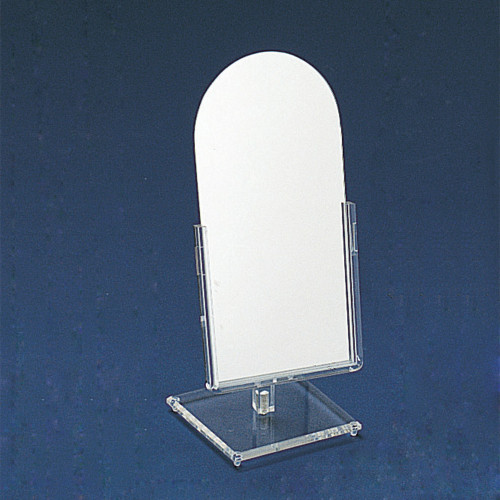 "Glass Mirror, 6 1/4"" x 14 1/2""H"