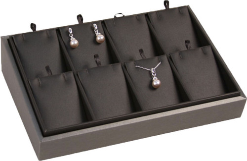 """2"""" H Slanted Pendant/Earring Tray,  9"""" x 6"""" x 2 1/4"""" H TY-2104 (78R)"""