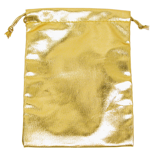 "4"" x 5"", Metalic-Gold Drawstring Pouches,price for Dozen,Buy More Save More"