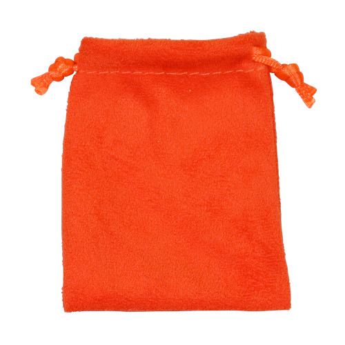"3"" x 4"",Orange Suede Drawstring Pouch, price for Dozen,Buy More Save More"