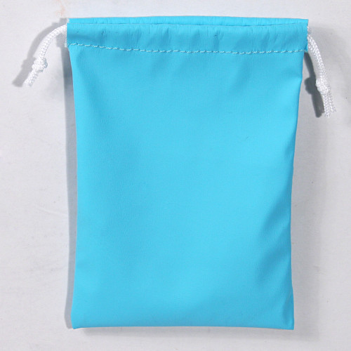 "3"" x 4"",Turquoise Leather Drawstring Pouch, price for Dozen,Buy More Save More"