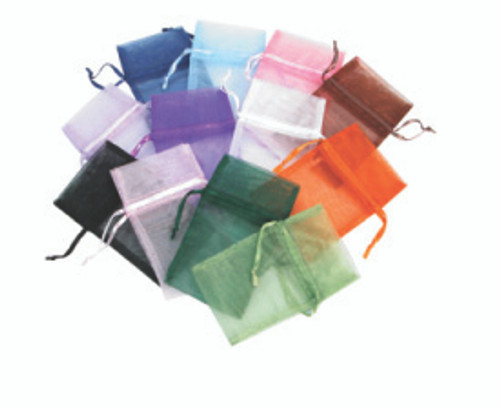 "4"" x 5"", Organza Drawstring Pouches, Mix 12 Color, price for Dozen,Buy More Save More"
