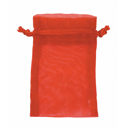 "4"" x 5"", Red Organza Drawstring Pouches, price for Dozen,Buy More Save More"