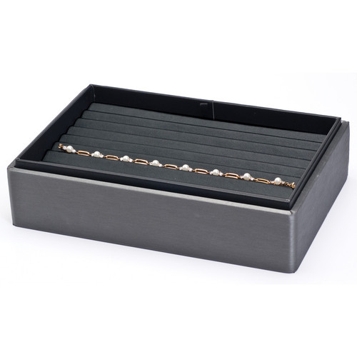 "2"" H Stackable Bracelet Tray,  9"" x 6"" x 2 1/8"" H F63-78R"