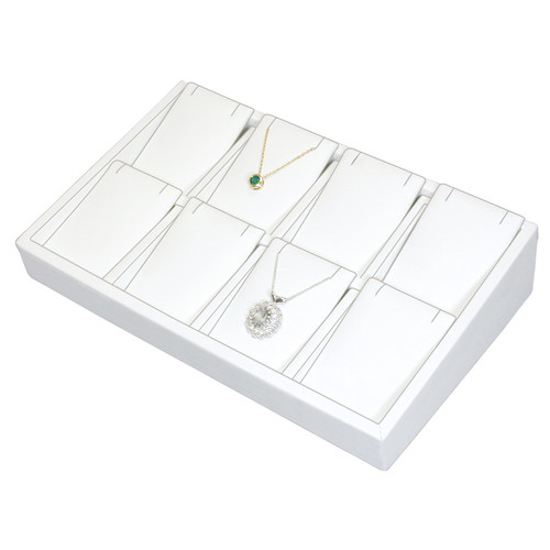 "2"" H Slanted Pendant/Earring Tray,  9"" x 6"" x 2 1/4"" H TY-2104 (W)"