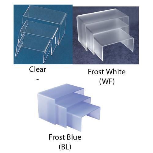 """3Pcs-Acrylic Riser, 5.3"""" x 4"""" x 2.5""""H, 6.3"""" x 4"""" x 3.5""""H, 7.25"""" x 4"""" x 4.5"""", 1/8"""" Thick"""