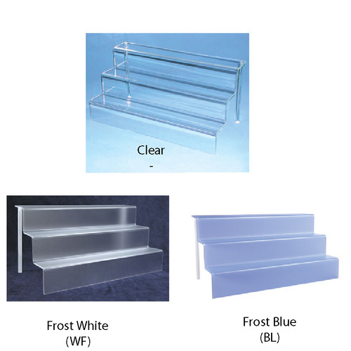 "Acrylic mini-stair display (3/16"" thick) ,18"" x 9"" x 9""H"