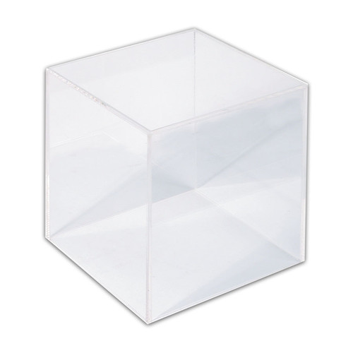"Acrylic Display Cube, 5"" x 5 "" x 5""H,"