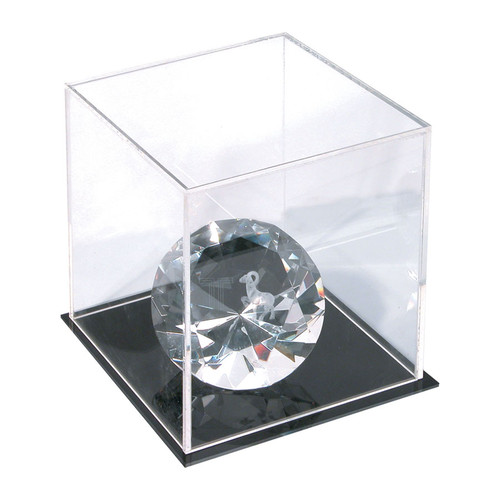 "Acrylic Display Cube with Base, 5"" x 5 "" x 5""H,"