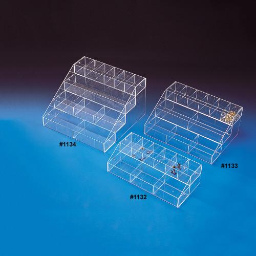 """Acrylic Multi-Tier 9 Bin Organizer, 16"""" x 8"""" x 4 5/8""""H"""