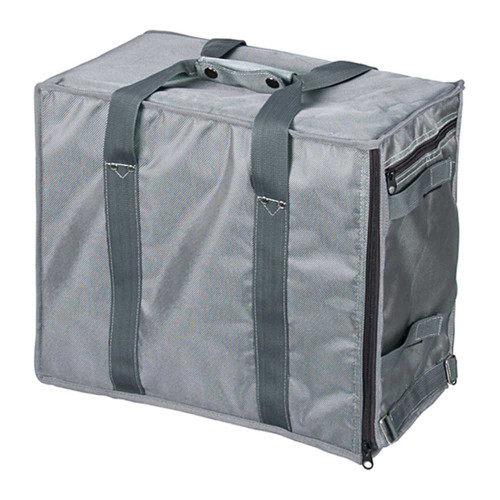 "Premium Fabric Carrying Case with Shoulder Strap-Grey , 16"" x 9"" x 13 1/2""H, Hold 12 pcs Stander Tray"