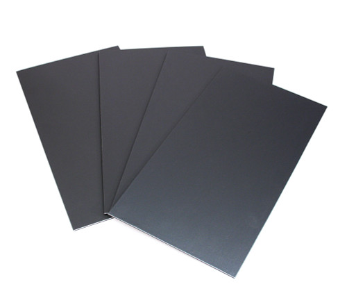 "4 pcs Base Board Set, 9 1/2"" x 18"",Steel Grey Leather"