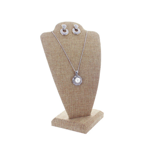 """Linen Necklace Display, 5 1/2"""" x 4 7/8"""" x 10""""H,(Choose from various Color)"""