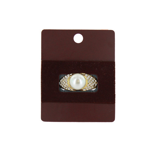"Hanging Ring Card - Wine Brown, 1 7/8"" x 2 3/8"", Price for 100 pcs"