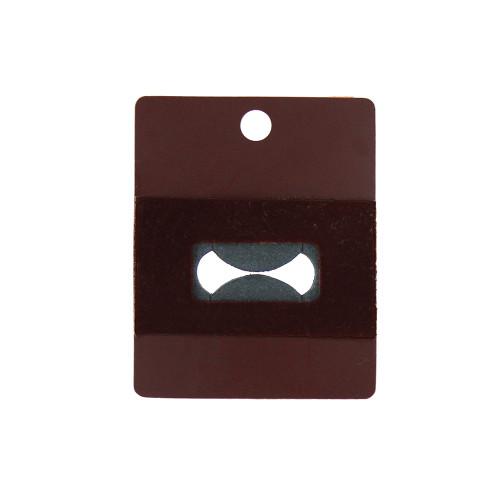 "Hanging Ring Card - Wine Brown, 1 7/8"" x 2 3/8"", Price for 100 pcs"