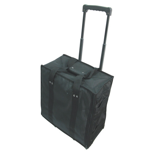 "Soft PVC carrying case w/handle - Black, 16"" x 9"" x 19""H"