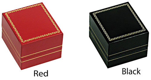 """LE3 Classic Style Earring Box, 1 3/4"""" x 2"""" x 1 1/2"""" , Choose from various Color"""
