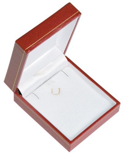 "LP9 Classic Style Earring/Pendant Box, 2 5/8"" x 3 1/8"" x 1 1/8"" ,  Choose from various Color"