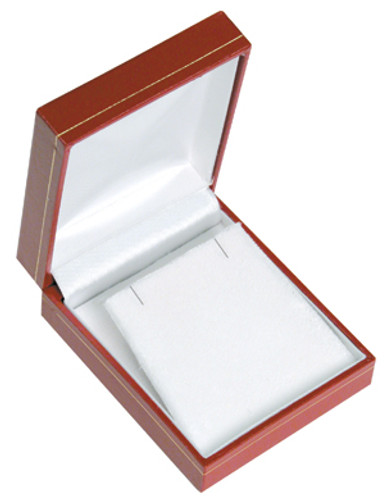 "LE7 Classic Style Earring/Pendant Box, 2 5/8"" x 3 1/8"" x 1 1/8"" ,  Choose from various Color"