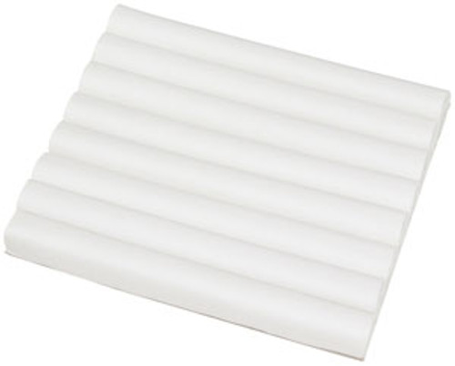 White Leatherette Half Size Ring Foam with Slots