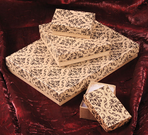 Damask Cotton Filled Boxes (Choose from various sizes), price for 100pcs