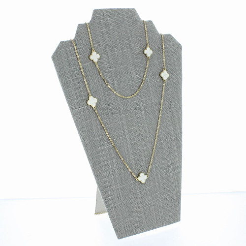 "Linen Necklace Easel Display 12 1/2""H,  (Choose from various Color)"