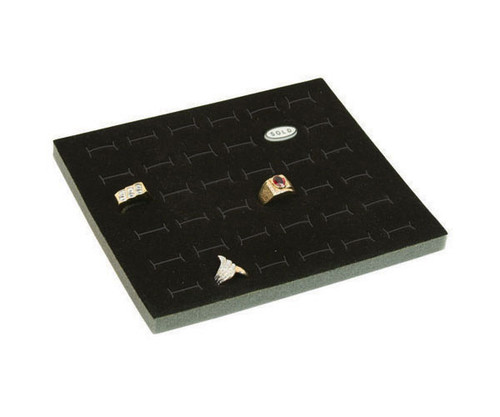 Foam 36-Ring Tray Insert Half Size Black