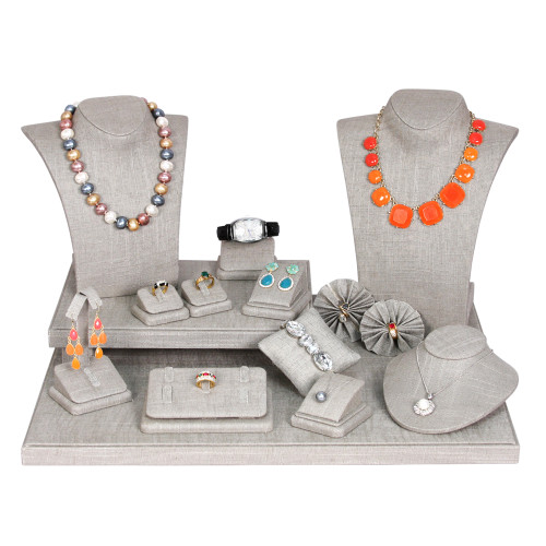 "Display Set70-N21 (gray,linen),19pcs, 20x16x12""H"