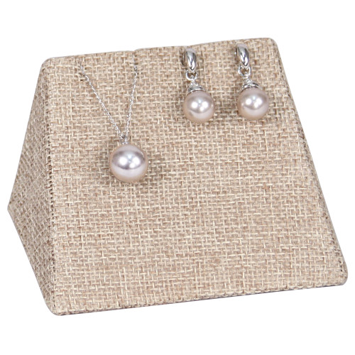 """Combo Display -linen,Earring/Pendant, 3.75x2.5x2.4""""H,(Choose from various Color)"""
