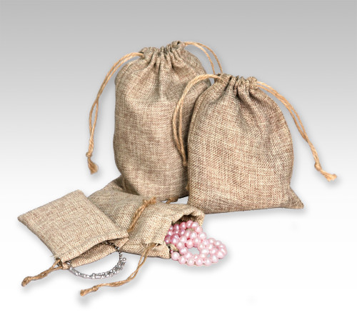 "2 3/4"" x 3"",Burlap Pouch , price for Dozen,Buy More Save More"