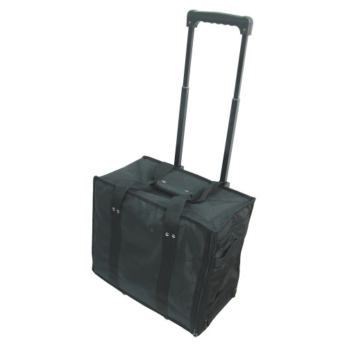 "Soft PVC carrying case w/handle - Black, 16"" x 9"" x 13 1/2""H"