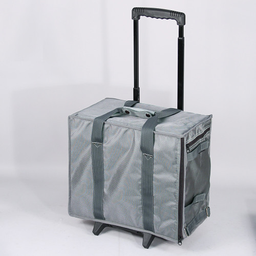 "Soft PVC carrying case w/handle - Grey, 16"" x 9"" x 13 1/2""H"