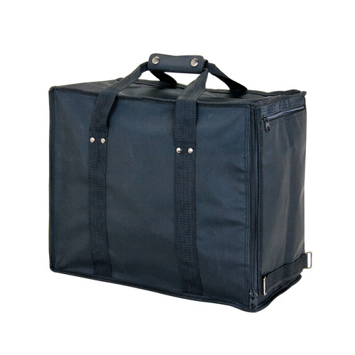 "Soft PVC carrying case - Black, 16"" x 9"" x 13 1/2""H, Hold 12 pcs Stander Tray"