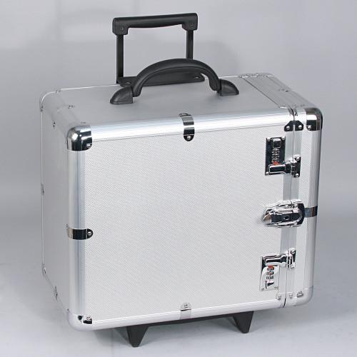 "Aluminum case side-open w/handle (12 trays),16 3/8"" x 11"" x 17""H"