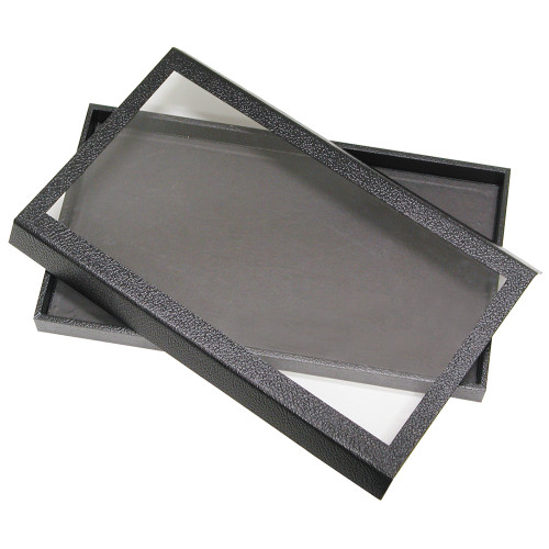 Leatherette Case, Black, Detached Magnetic Lid,(Choose from various Size)
