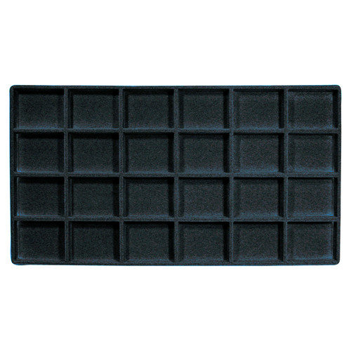 24-Compartment Flocked Tray Insert (Choose from various Colors)