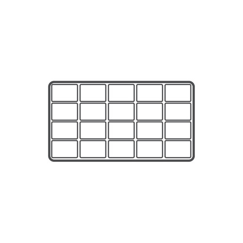 20-Compartment Flocked Plastic Tray Insert,(Choose from various Color)