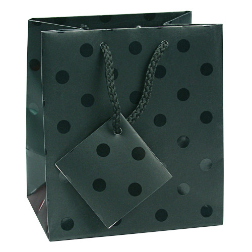 Paper gift bag ,Polka Dot Spot-Black,(Choose from various sizes),Price for 20 pieces