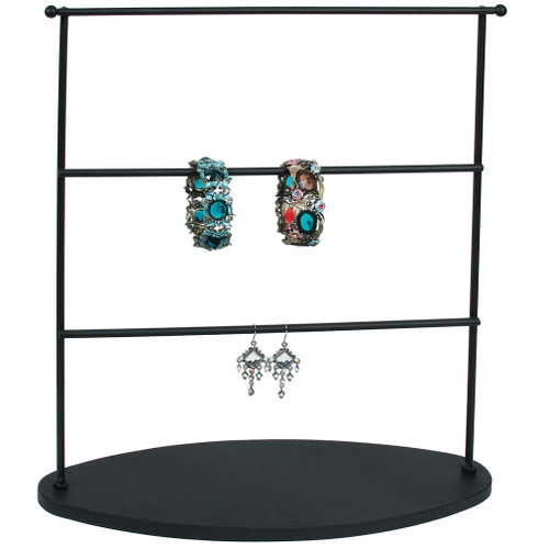 "Earring Display, 13 3/4"" x 4 3/4"" x 15""H,Metal, Black"