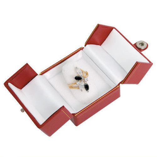 "Classic Style Ring Box, 2"" x 2 1/8"" x 1 3/4"",Choose from various Color"