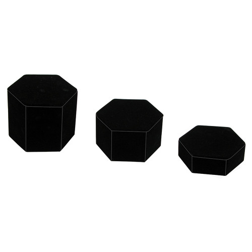 "3-PCS HEXAGON Set, 4 1/8"" Diag., 1""H, 1 3/4""H, 2 1/2""H, Choose from various Color"