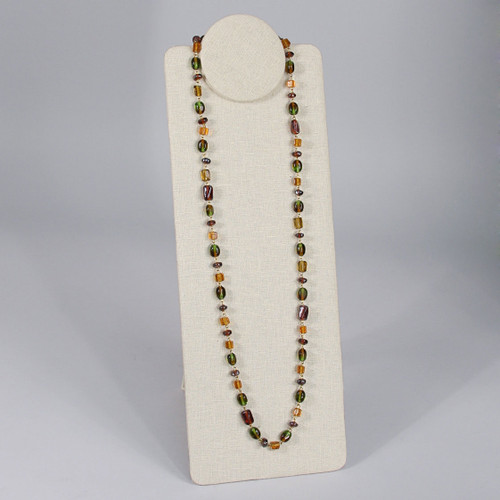 """Linen Foldable Necklace Display, 6 1/2"""" x 9"""" x 7"""" H or 16 5/8""""H, Choose from various Color"""