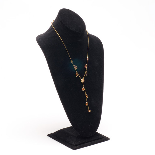 "Necklace Display Bust 8 1/4"" x 6 3/4"" x 14 1/2""H, Choose from various Color"