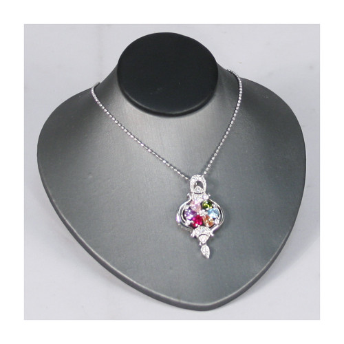 "Necklace Display, 4 3/4"" x 5"" x 2 3/4""""H, Choose from various color"