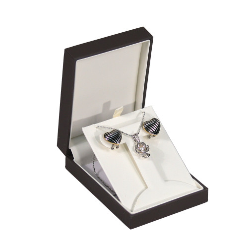 "Elegant Sleeve T-SHAPE Earring Box , 3"" x 4 3/8"" x 1 1/4""H ,  Choose from various Color"